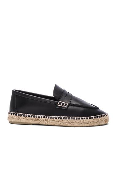 Leather Loafer Espadrilles