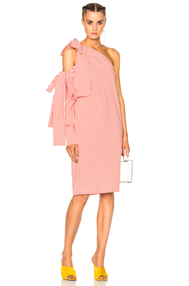 Bow Pinstripe Dress