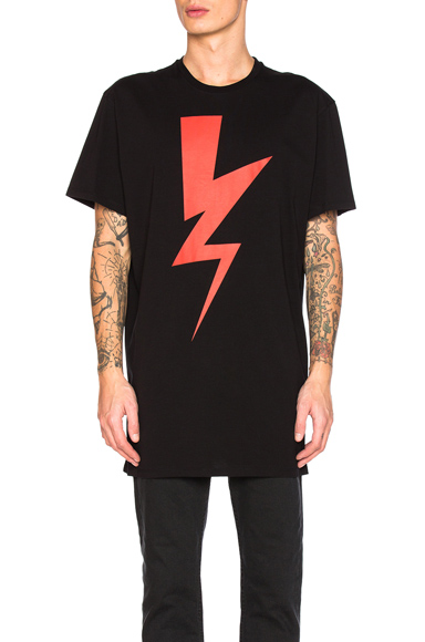 Oversize Abstracted Bolt Tee