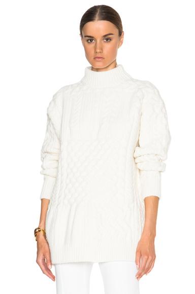 Bi Color Patchwork Crewneck Sweater