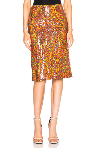 Copper Sequin Skirt