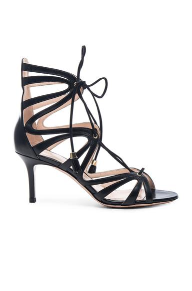 Nara Laceup Leather Heels