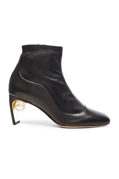 Leather Maeva Pearl Booties