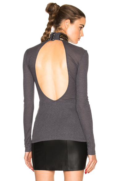 Coiled Turtleneck Top