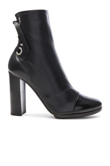 Platform Leather Booties