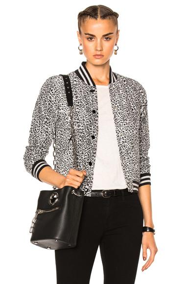 Leopard Shrunken Roadie Gray Leopard