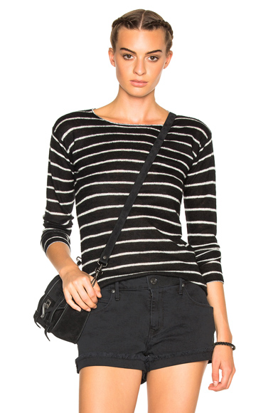 Long Sleeve Knit Cashmere Tee