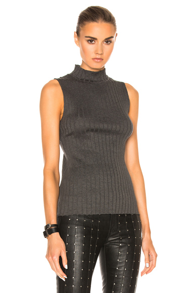 Tri Rib Sleeveless Top