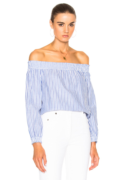 Stripe Drew Top