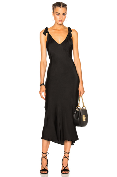 Bias Bow Maxi Dress