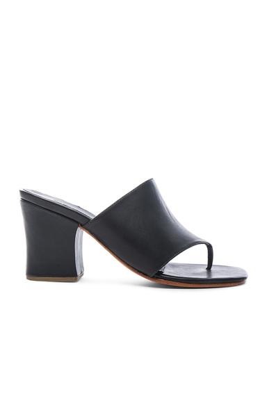 Leather Topaz Heels