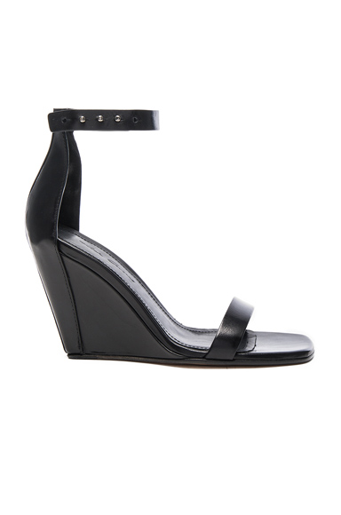 Strappy Leather Wedges