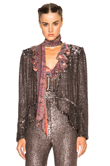 Hand Beaded Peplum Jacket