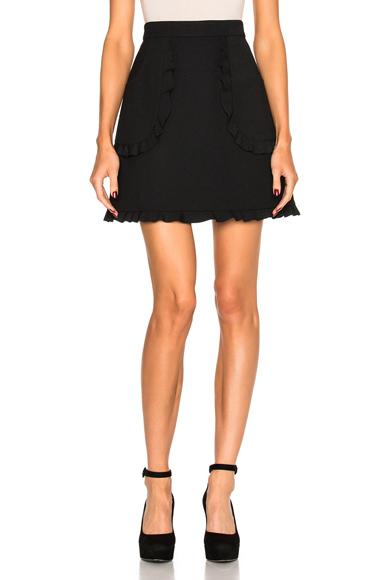 Scalloped Mini Skirt