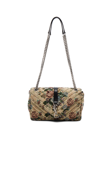 Medium Floral Tapestry Monogramme Chain Bag