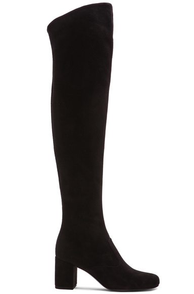 Suede BB Thigh High Boots