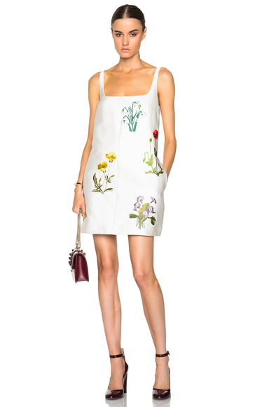 Marianne Botanical Embroidery Dress