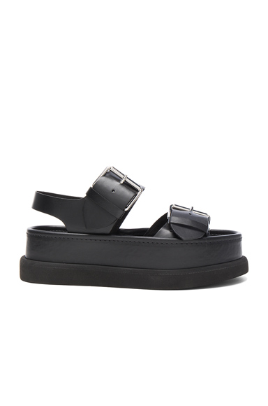Leather Buckle Sandals