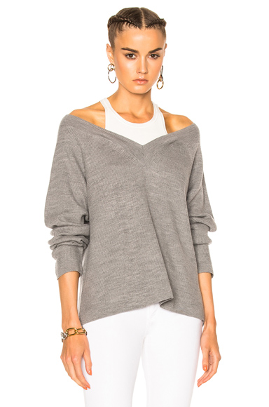 V Neck Sweater with Inner Tank