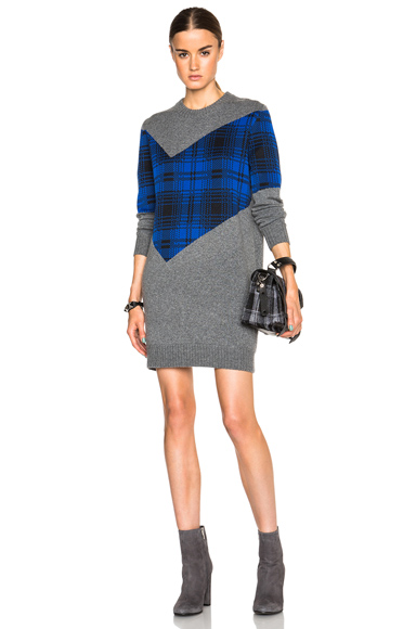 Plaid Combo Dress