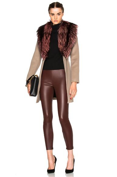 Vanessa Coat with Fox Fur Collar