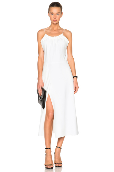 Ruched Cami Flared Dress