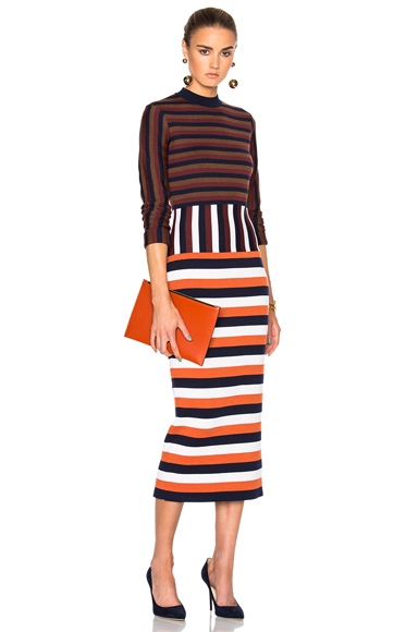 Compact Wool Striped Deconstructed Dress
