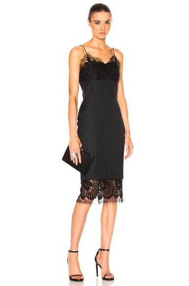 Pin Tailoring & Lace Dress