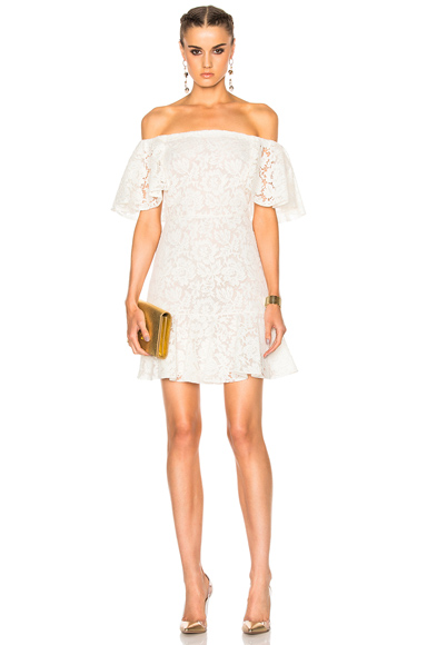 Heavy Lace Off The Shoulder Dress