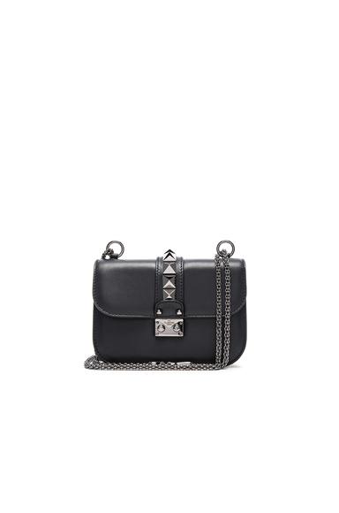 Small Noir Lock Flap Bag