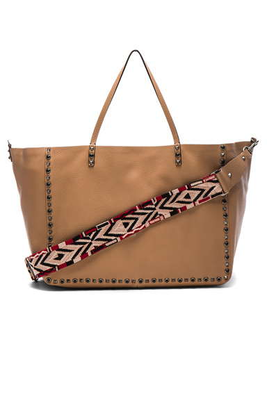 Guitar Rockstud Rolling Double Large Tote