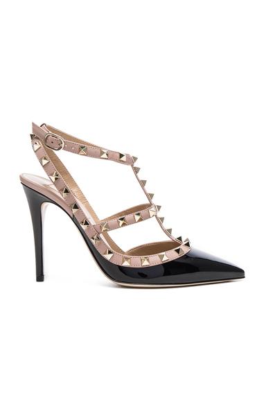 Rockstud Patent Leather Ankle Strap Heels