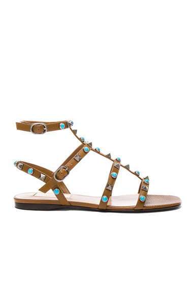 Leather Rockstud Sandals