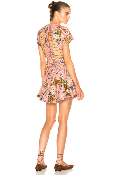 Tropicale Lattice Dress
