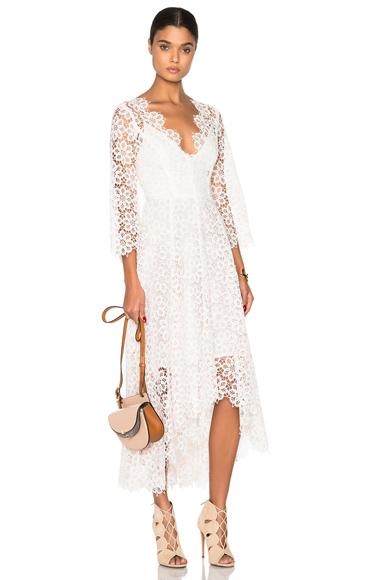 Empire Guipure Dress