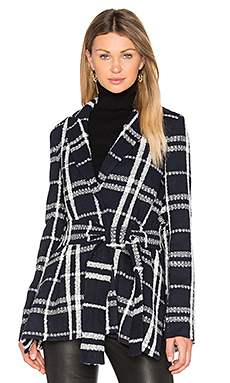 Tie Belt Wrap Jacket in Midnight Multi