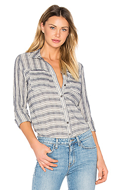 Long Sleeve Button Down Shirt en Indigo