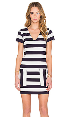 Patch Pocket Shift Dress in Evening Navy