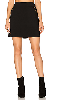 A Line Button Skirt in Rich Black