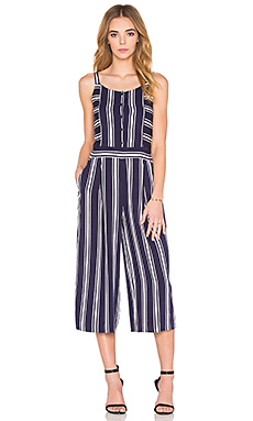 Button Front Culotte Jumpsuit – 深海军蓝