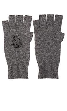 Skull Gloves in Charcoal