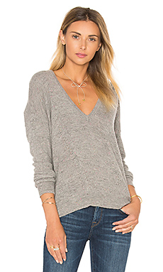 Vance Boyfriend Sweater en Granite