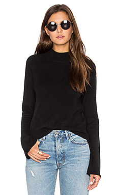 Athens Bell Sleeve Sweater in Black
