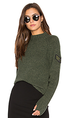 Francoise Mock Neck Sweater in Military