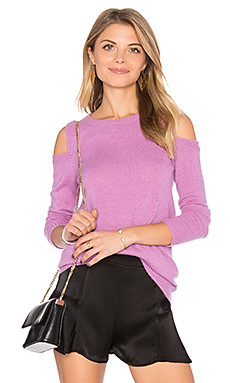 Roxanna Cold Shoulder Sweater in Magenta