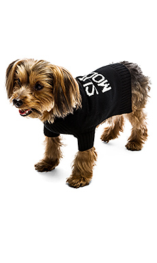 Skull Dog Super Model Sweater in Black & White