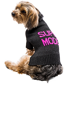 Skull Dog Super Model Sweater – 炭灰色 & 粉红
