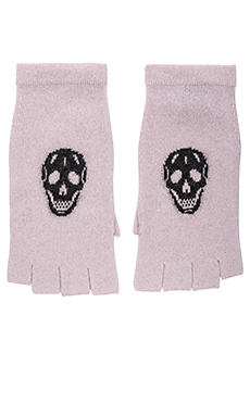 Skull Gloves – Flower & Charcoal Skull