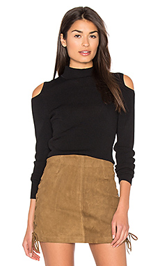 Melinda Cold Shoulder Sweater in Black