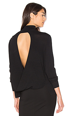 Milana Open Back Sweater in Black